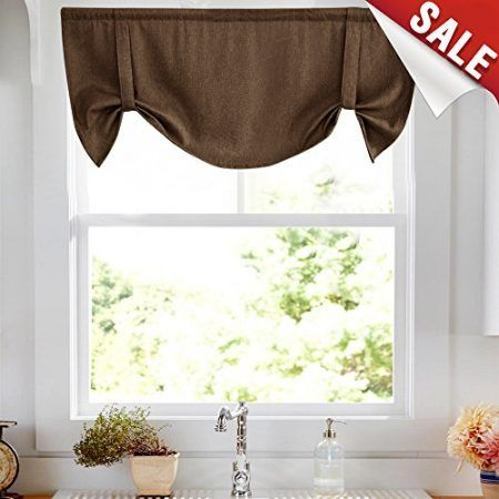 Farmhouse Valances Farmhouse Goals Valance Taupe Window Curtains Tie Up Valance