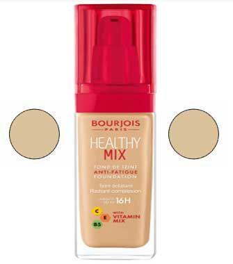 كريم اساس برجوا هيلثي الاصلي درجات اللون و انواعه بالصور Original Bourjois Healthy Foundation Color Levels And Type Healthy Mix Vitamins Bourjois