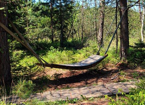 Wooden Hammock Stand And Tent Concept