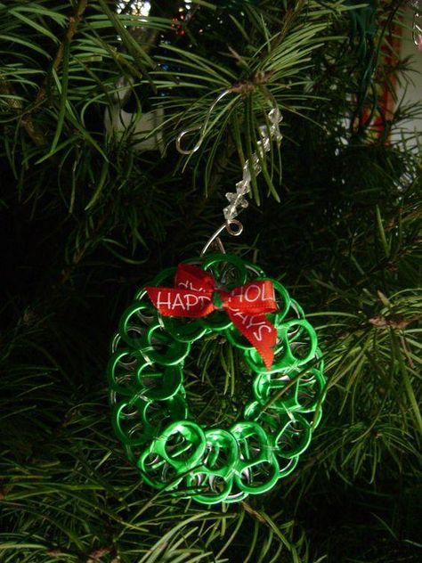 Can tab wreath ornament
