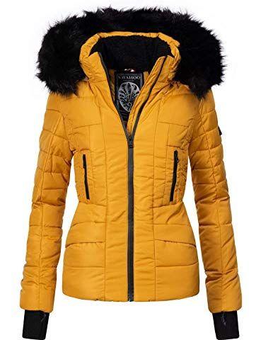 Navahoo Damen Winter Jacke Winterparka Laura 12 Farben XS