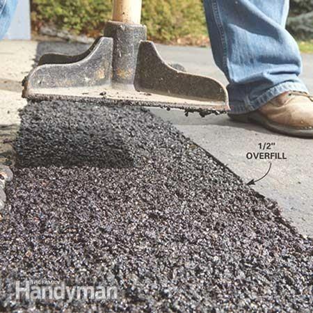 Repair The Apron In Front Of Your Garage Door Driveway Repair Diy Driveway Home Improvement Loans