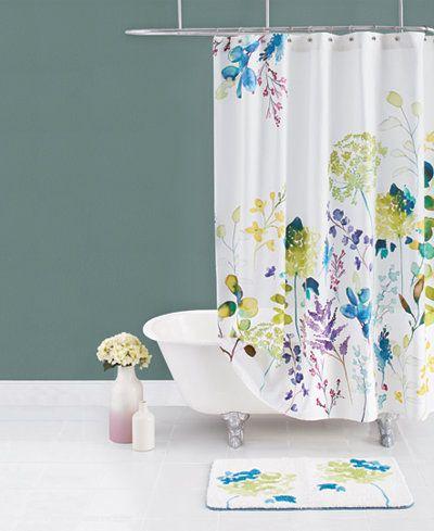 Bluebellgray Botanical Garden Cotton Shower Curtain Pretty