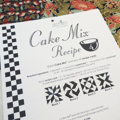 Cake Mix Recipe 3 by Moda Each Recipe