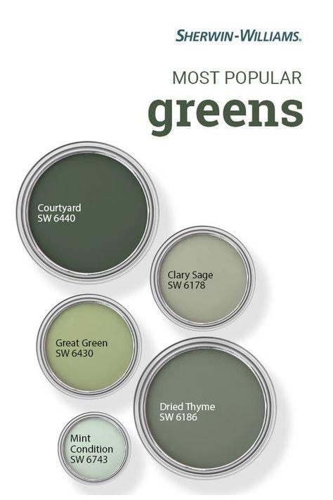 Popular Green Paint Colors #sw #green #paint #colors #swgreenpaintcolors