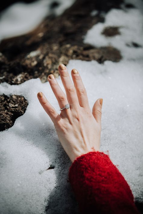 I fell in love with shooting winter engagement photos in the snow! Everything just looks better! It may be cold and freezing but so worth it! Hands down I would suggest wearing red everything for a snow engagement photo session! #reddress #engagementsession #engagementphotos #snowengagementphotos #winterengagement #engagementring #winterengagementphotos #winterengagementsession #engagmentphotoinspiration #engagementcouple #couplegoals #love #engagementphotosession #melissamontoyaphotography