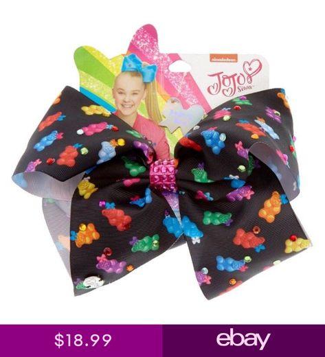 JoJo Siwa Bear-y Bow Gummy Bear Rhinestone Bow Large ~ Cheer Dance Gymnastics
