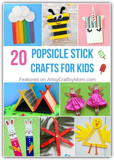20 Simple Popsicle Stick Crafts for Kids to Make and Play