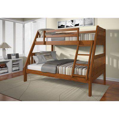 Harriet Bee Eakes Twin Over Full Bunk Bed Wayfair Bunk Bed Sets Kids Bunk Beds Bunk Beds With Stairs