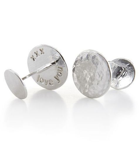 Classic and masculine hammered sterling silver on the outside, these