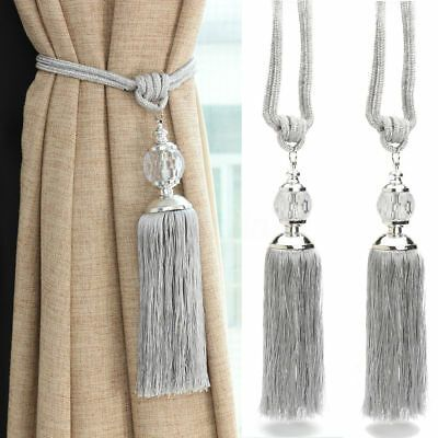 Details About 2pcs Curtain Holdbacks Rope Tie Backs Tassel