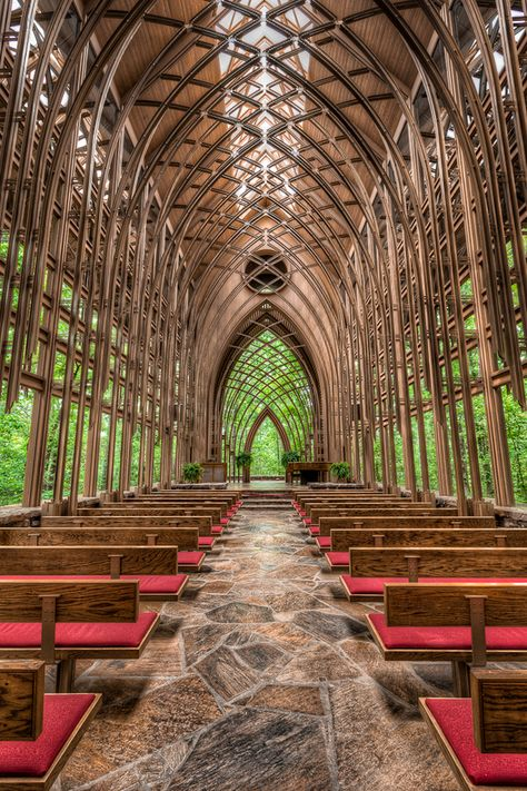 Where I REALLY wanted to have my wedding ceremony. Maybe for vow renewals someday or just a romantic stop during a hike. Thorncrown Chapel, Eureka Springs, AK, Designed by Architect Fay Jones, Frank Lloyd Wright apprentice and one of my dad's architecture professors. Photo by  W Brian Duncan, via 500px