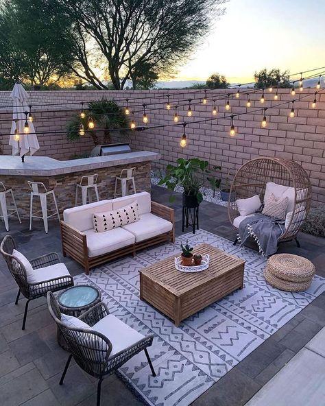 Outdoor Patio Designs, Outdoor Spaces, Outdoor Living, Outdoor Decor, Outdoor Patios, Patio Ideas Near Pool, Patio Ideas Off House, My Patio Design, Small Patio Ideas Townhouse