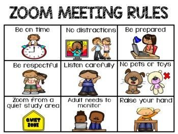 Zoom Rules Chart In 2020 Teacher Help Learning Resources Virtual Classrooms