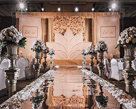 Amazon.com: 4×33 ft Wedding Decorations Mirror Aisle Runner