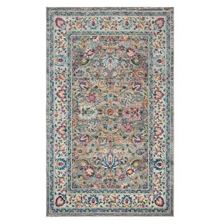 Safavieh Oakley Colorful Framed Floral Rug Floral Area Rugs Area Rugs Grey Area Rug