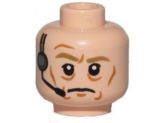 LEGO Star Wars Head Beard Stubble Arched Eyebrows /& Scars Boba Fett Minifig