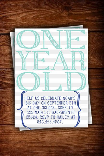 simple, handwritten postcard invitations KIDS   parties Pinterest - fresh sample of invitation card for 1st birthday