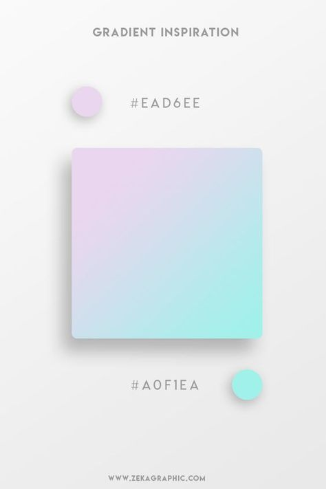 37 Beautiful Color Gradients For Your Next Design Project - Beautiful Gradient Color Palettes – Lilac & Cyan Beautiful Gradient Color Palettes – Lilac & Cy -