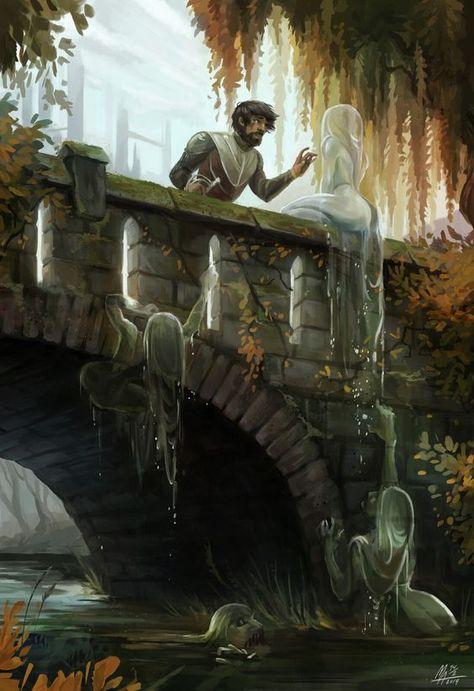 Don't look down, Monica Antonie Meineche - Toilets inside Contemporary Art work Dark Fantasy Art, Artwork Fantasy, Fantasy Concept Art, Fantasy Kunst, Fantasy World, Dark Art, Fantasy City, Fantasy Forest, Fantasy Castle