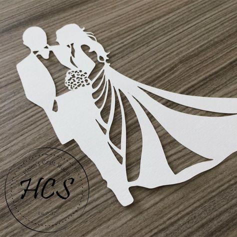 Bride and Groom Silhouette Celebration svg / Wedding svg /
