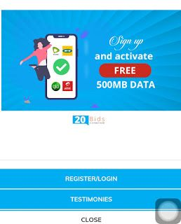 Download 20bids App Now To Get Free Data Of 500mb Data App How To Get