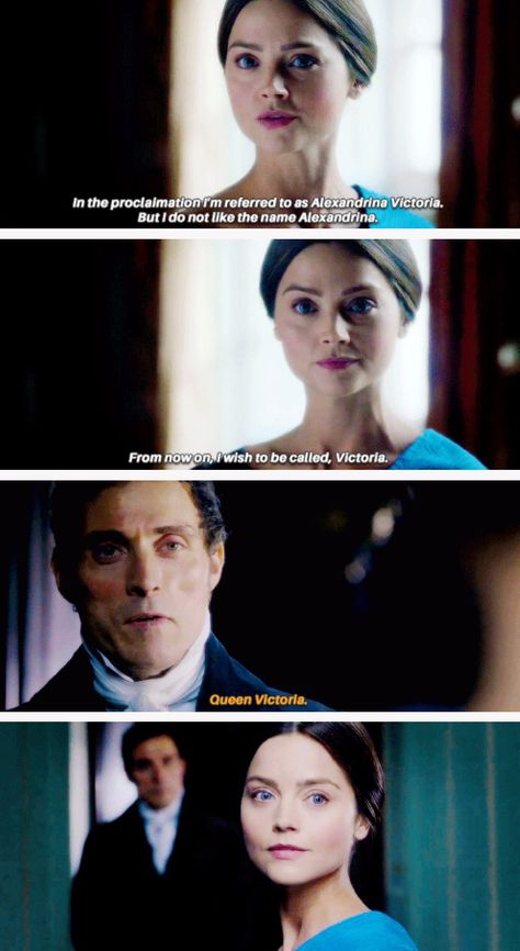 Jenna Coleman as Victoria and Rufus Sewell as Lord Melbourne.