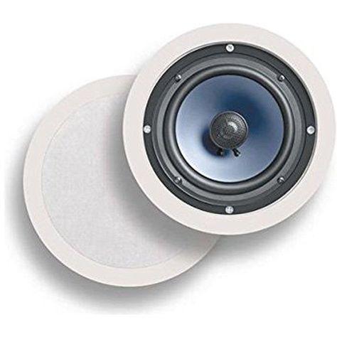 Polk Audio Rc60i 2 Way In Ceiling Speakers Pair White In Wall Speakers Ceiling Speakers Home Theater Speakers