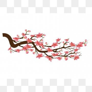 Chinese New Year Sakura Flowers Background Cherry Blossom Isolated White Background Cherry Blossom Clipart Twig Hand Painted Peach Png And Vector With Transp