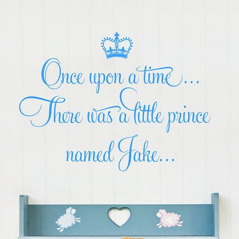 Once Upon a Time Prince Zak Wall Sticker Decal Bed Room Nursery Art Boy//Baby