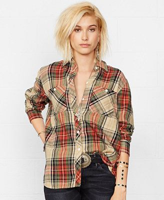 Denim & Supply Ralph Lauren Plaid Flannel Shirt at macys!!! I want it oversized!