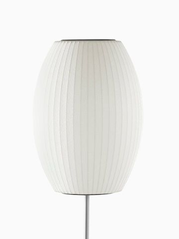 A White Floor Lamp Select To Go To The Nelson Cigar Lotus Floor Lamp Product Page Nelson Bubble Lamp Bubble Lamps Lamp