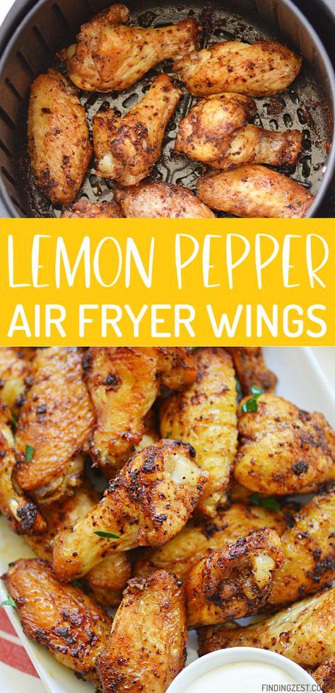 Lemon Pepper Air Fryer Wings