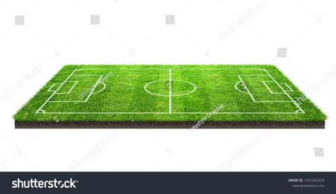 Football Field Or Soccer Field On Green Grass Pattern Texture Isolated On White Background With Clipping Path Socc Football Field Grass Pattern Soccer Stadium