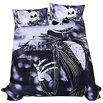 Lightinthebox Outlet Bedding Nightmare Before Christmas Cool Bed Linen Printed Soft Sh In 2021 Nightmare Before Christmas Bedding Christmas Duvet Christmas Duvet Cover