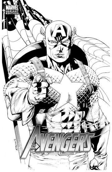 dibujos para colorear capitan america avengers  Dibujarte school