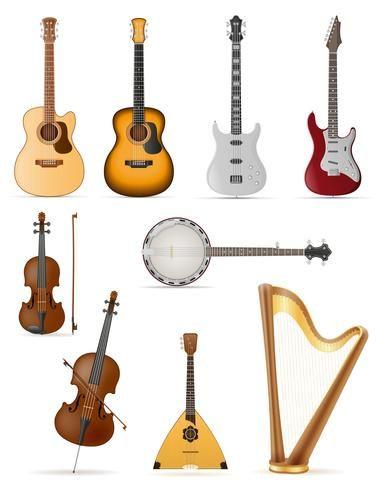 آلات موسيقية وترية Music Instruments Guitar Instruments