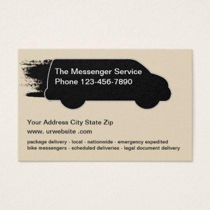 Messenger Courier Service Business Card Zazzle Com Courier Service Business Services Business Professional Business Cards