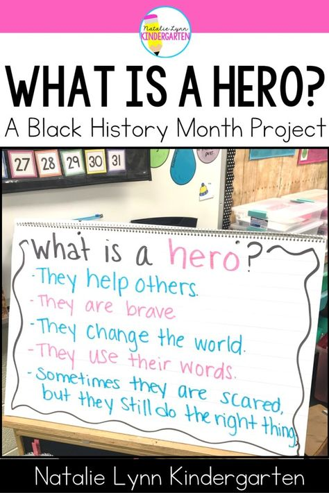 What Is a Hero Project | Black History Month Activities for Kindergarten