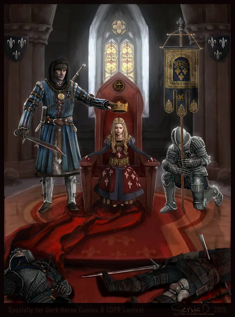 f Cleric Noble lvl Throne Crown Castle Temple m Ranger Advisor m Paladin Plate Armor dead bodies story urban The Witcher Roche