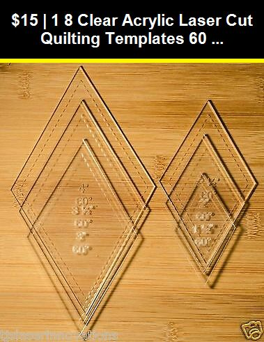 """Square 3-6 Inch 1//8/"""" Clear Acrylic Laser Cut Quilting Templates"""
