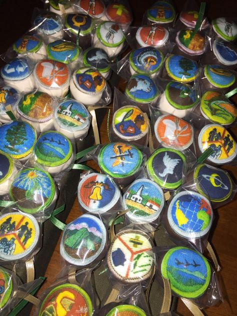 Eagle Scout badge cake pops by thepopcakery1 on Etsy