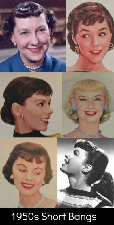 1950s Fringe Google Search 1950s Hairstyles Vintage Hairstyles For Long Hair 50s Hairstyles