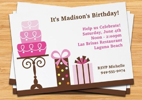 Happy Birthday Invitation Card With Photo For Friends