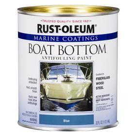 Rust Oleum Marine Coatings Blue Flat Antifouling Enamel Oil Based Marine Paint Actual Net Contents 32 Fl Oz 207013 Boat Paint Bottom Paint Boat Bottom Paint
