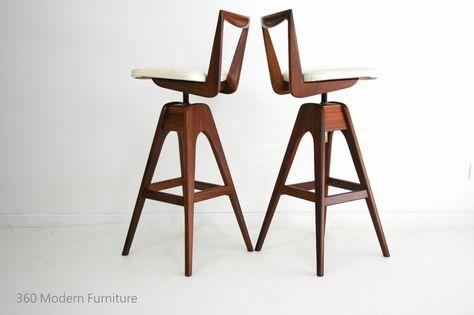 Super Mid Century X 2 Th Brown Swivel Bar Bench Stools Retro Bralicious Painted Fabric Chair Ideas Braliciousco