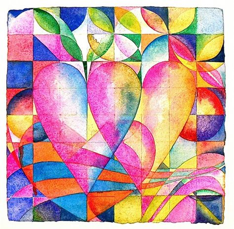 """Love Letter 17: Orchard  Watercolor on handmade Shizen 500 lb rag paper   12"""" x 12""""   Available   300.00   postpaid"""