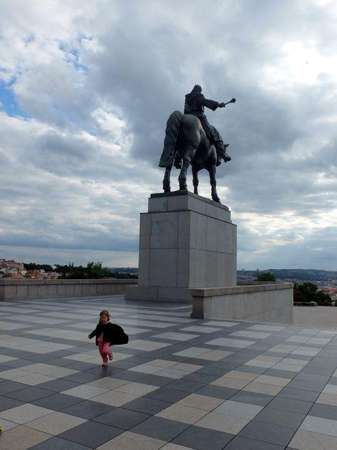 La statue de Jan Žižka (à priori la plus grande statue équestre du monde)