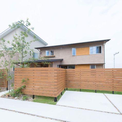 外からはldkに目が行かなくなる高さ 塀 そとん壁 塗り壁 庭 Green