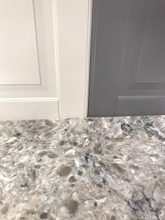 Ikea Bodbyn Cabinets And Himalayan Moon Quartz Kitchen Remodel